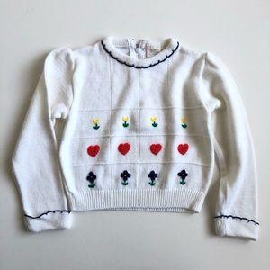Vintage 80's girls sweater sz 4. Cute knit details